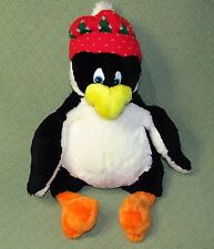 """Large Commonwealth PENGUIN Plush with SQUEAKER Red Knit Hat 20"""" Stuffed Animal"""