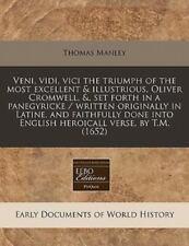 Veni, Vidi, Vici the Triumph of the Most Excellent & Illustrious, Oliver Cromwel
