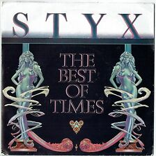 """STYX - 7"""" The Best of Times (Etched disc) UK Picture Sleeve.  A&M"""