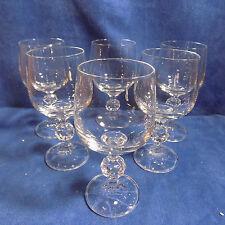 SET OF 6 CLAUDIA CZECHOSLOVAKIA 190 ml WINE GLASSES -  EXCELLENT