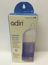 Adiri BPA Free Natural Nurser Ultimate Bottle Stage 2Blue, Medium Flow 3-6months