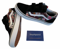 Vans Old Skool V (Butterfly Floral) Strap Black Red Sz Women's 7.5 / Youth 6 ⭐️