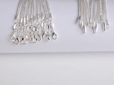 """10Pcs Wholesale 26inch Jewelry Lot 60% Silver """"FOX TAIL"""" Chain Necklace Pendant"""