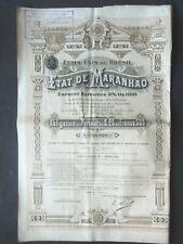 ETAT DE MARANHAO BRESIL EMPRUNT EXTERIEUR 5% OR 1910 - OBLIGATION 500 FRS