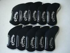 10PCS Golf Iron Headcovers Windows for Callaway Club Head Covers Protector Black
