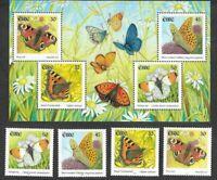 Ireland- Butterflies min sheet & set mnh 2000