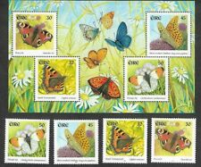 Ireland- Butterflies min sheet & set mnh 2000