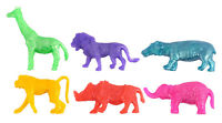 6 Stretchy Jungle Animals - Pinata Toy Loot/Party Bag Fillers Wedding/Kids