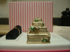 "New listing Estee Lauder Solid Perfume Compact ""Sylvia Weinstock Wedding Cake"" Mib"