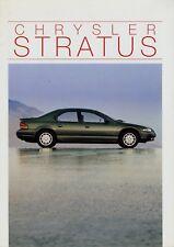 Chrysler Stratus Prospekt 1995 3/95 Autoprospekt 24 S. Broschüre brochure Auto