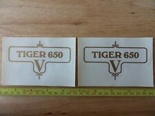 60-3952 TRIUMPH TIGER 650 V GOLD SIDE PANEL DECAL TRANSFER (PR)