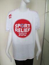 Lo SPORT Relief 2012-Bianco/Rosso, Maniche Corte Logo T-Shirt Taglia Large