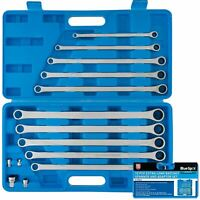 BlueSpot 10pc Extra Long Ratchet Spanner Set Double Ended Ring Aviation Spanners