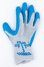 ATLAS FIT 300 RUBBER COATED WORK GLOVES SIZE SMALL COTTON /POLYESTER LINED NOS