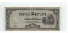 PHILIPPINES (The Japanese Government) 10 Peso 1942 Pick# 108 G-VG (#1073)
