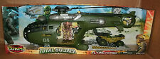 "1/18 Total Soldier Flying Fortress Helicopter + 3.75"" Action Figure  The Corps"