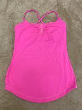Lulu Lemon Women's Size Small Stretchy Tank Top Hot Pink Athletic Yoga Run Top
