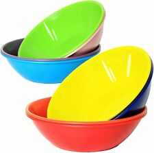 28 Ounce Plastic Soup Bowls Large Cereal Salad Bowls Set of 9 Assorted Colors