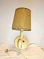 Vintage Electric Wall Lamp and Paper Shade Made in USA