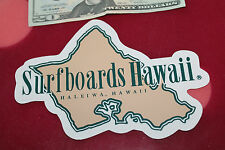 Vintage Surfing Sticker Surfboards Hawaii Dick Brewer Green/Brown 5x7in. Decal