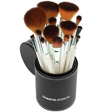 NEW Pearl Deluxe Brush Set Coastal Scents 16 Makeup Brushes, Cleanser + Case Set