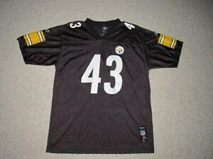 Troy Polamalu #43 Pittsburgh Steelers Reebok Black Jersey Youth Size XL 18-20