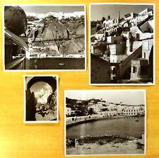 SANTORINI 3 Press Photographs & 1 Photo Postcard SANTORINI ISLAND Greece c.1960