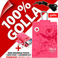 Golla Pink Phone Case Cover Pouch Bag+Neck Strap+Belt Loop for iPhone 3GS 4 4S