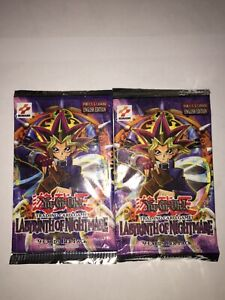 2x Labyrinth Of Nightmare Booster Packs - 2003 Print - Factory Sealed Yu-Gi-Oh