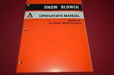 Allis Chalmers Snow Blower For 5020 5030 Tractor Operator's Manual DCPA4