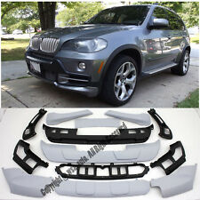Aero dynamic Front plus Rear Bumper Cover Lip Body Kit For 07-10 BMW E70 X5