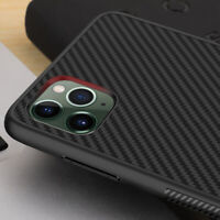 For iPhone 11 12 Pro Max Xs XR 7 8 Texture Soft Silicone Carbon Fiber Case Cover