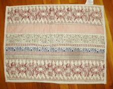 NWOT 2 Scrolls Rows of Colors Reds Green Blue 20 x 26 Quilted SHAMS
