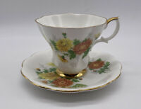 Royal Albert Friendship Chrysanthemum Cup And Saucer Bone China Made In England
