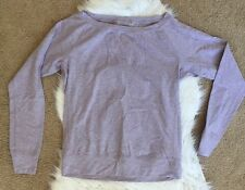 NIKE DRI-FIT LONG SLEEVE PULLOVER BOATNECK COTTON SWEATSHIRT LILAC M