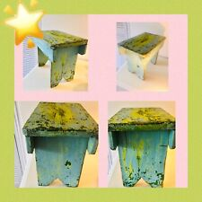 Antique Stool Milking Stool Vintage Rustic  Collectable Work of Art