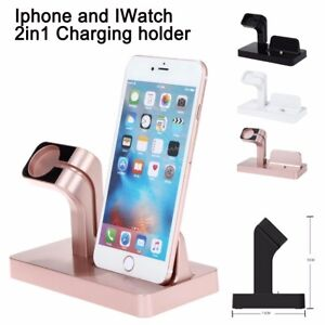 2 in 1 Charging Dock Stand Bracket Holder Kit For i Phone Watch i watch