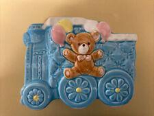 Vintage Geo Z Lefton Ceramic Baby Train Planter From 1988 # 06589