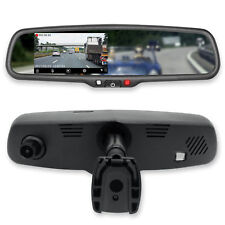 """Master Tailgaters 4.3"""" LCD Rear View Mirror with 30FPS HD DVR Dual Way Recorder"""