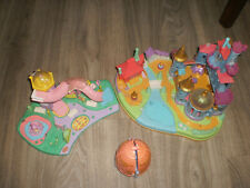 3 sets polly pocket sparkle ballerina , ride and surprise, la belle et la bête