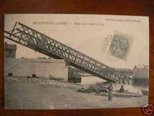 cpa 69 belleville sur saone pont casse tombe a l'eau