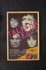 Talking Heads B-52's Poster 1979 Cocoanut Grove Santa C