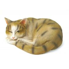 Chat endormi en résine