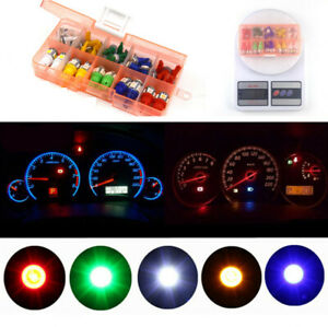 Car T5 T10 LED Instrument Panel Dashboard Light Green Red White Blue Yellow 12V