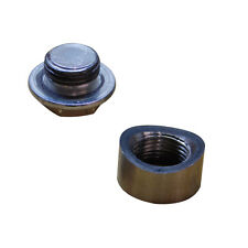 Pre-Curved Notched 02 Oxygen Sensor Weld Bung Nut and Plug M18x1.5 Wideband
