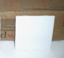 WALL TILES SEMI GLOSS CERAMIC 4-1/4 X 4-1/4 WHITE DALTILE SET FLOOR GLAZED NOS
