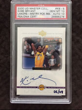 2000 LAKERS MASTER COLLECTION MYSTERY PACK AUTO KOBE BRYANT /8 - PSA GEM MINT 10