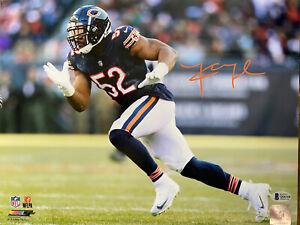 Khalil Mack Autographed Signed 11x14 Photo NFL Chicago Bears - Beckett COA