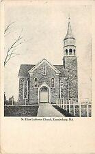 c1909 Postcard; St. Elias Lutheran Church, Emmitsburg MD Frederick Co. Unposted