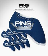 PING 2019 New Premium Original Golf Iron Club Head Cover(9pcs) Navy Neoprene